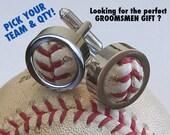 4 Pairs Game Used Baseball Cufflinks