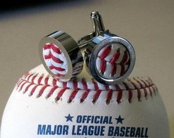 Men's Authentic Rawlings Baseball Cufflinks