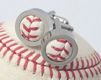 Chicago Cubs 2016 GAME USED Baseball Cufflinks w/ Gift Bag