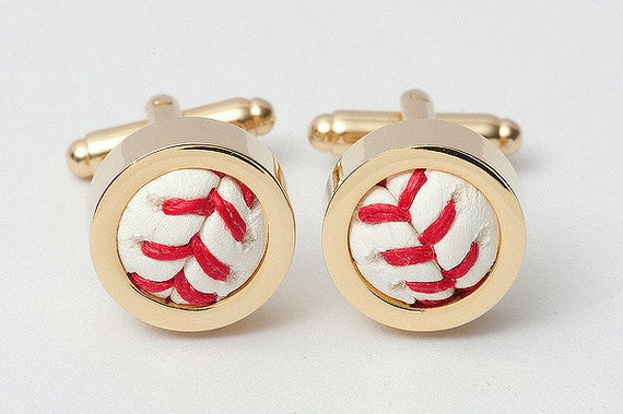 Authentic Baseball Cufflinks (GOLD)