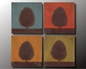 Four Seasons: Original Oil Four Piece Gallery Wrap Paintings