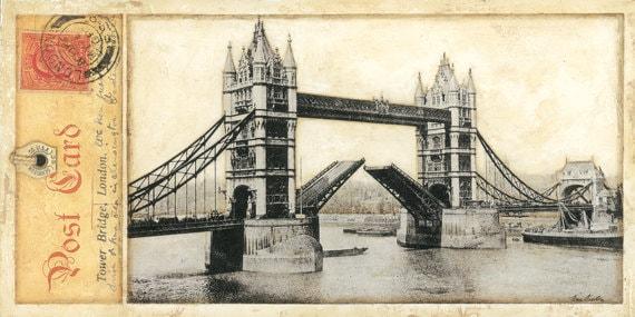 "London,Tower Bridge, England 10"" x 20"""