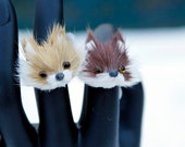 Furry Fox Face Adjustable Ring- Limited Quantities
