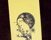 Classy Yellow Owl Tags.  Scrapbooking. Gift tags