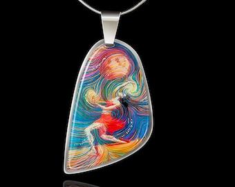 Metaphysical Dancer Energy Pendant - Metaphysical Jewelry