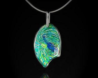 Peacock Metaphysical Energy Pendant - Chakra Healing Jewelry