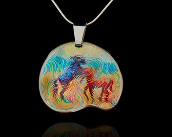 Stallions Horse Energy Pendant by Julia Watkins - Horse Jewelry