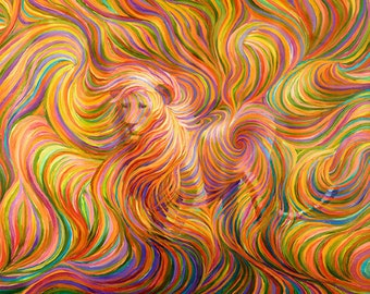 Lion Spirit Guide Painting - Giclee Print
