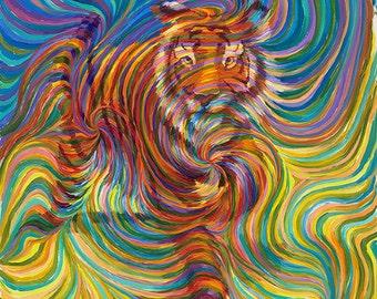 Tiger Totem Metaphysical Painting - Giclee Print