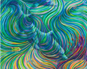 3 Dolphins Healing Energy Painting