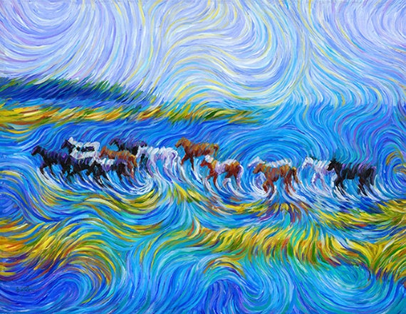 Many Ponies Painting - A vision of abundance Print