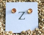 Dot Post Earrings in Copper