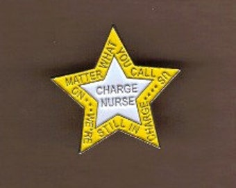 Charge Nurse Lapel Pin
