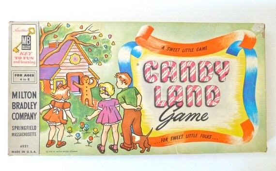 1960's Vintage Candy Land Game