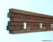 Reserved for Kara Coat Rack 7 Hook Walnut Modern Key Hat Minimalist Wall Hanging w/ 7 Hooks