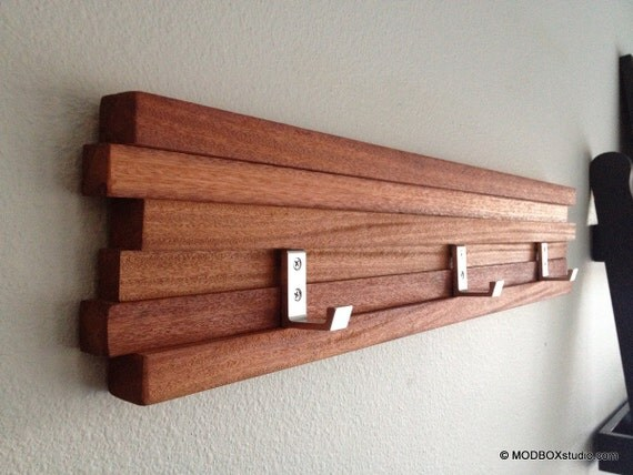 Coat Rack 4 Hook Key Hat Rack Minimalist Modern Wall Hanging w/ 4 Hooks