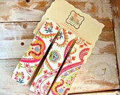 JUMBO Clothespins-Set of 3-Magnets included-Paisley and Flowers
