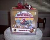 Redskins Glass Lighted Block
