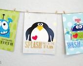 Kids prints - Bath series and rules (one print)