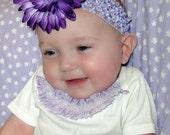 Baby Onesie - Lavendar Plaid Ruffle Onesie--sizes 0-24 months, short or long sleeve