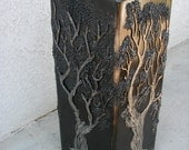 Treefoil steel table base 1'x1'x3'