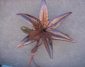 Hammered Copper Love Lilly
