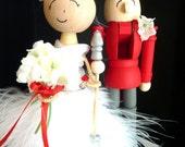 Holiday Wedding Cake Topper