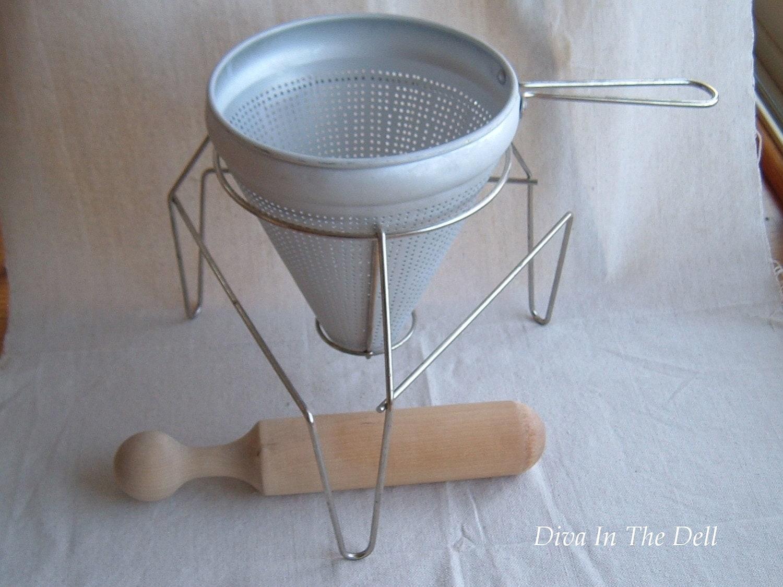 Vintage Sieve Strainer For Making Jam Or Sauce Antique Canning