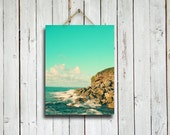 Beach photograph - Island sky - 10x13 print - beach photo - aqua blue - beach photography - island photo - island photography