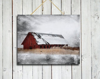 Red Barn In Snow Etsy Home Decorators Catalog Best Ideas of Home Decor and Design [homedecoratorscatalog.us]