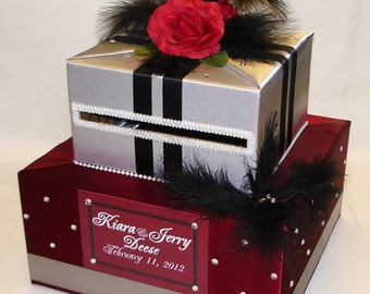Elegant Custom Made Wedding Card Box-2 Tier-any color combination