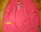 Early 90s Ixspa Hot Pink Action Skirt