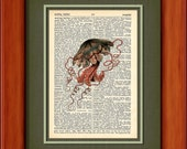 "Dictionary Art Print - Jelly - 6 3/4"" x 9 3/4"" - Art Print on Upcycled Dictionary Page - FRAME NOT INCLUDED"