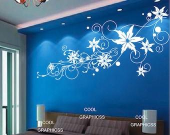 Big Abstract Flower - Vinyl Wall Decal Sticker Art,Wall Hanging, Mural