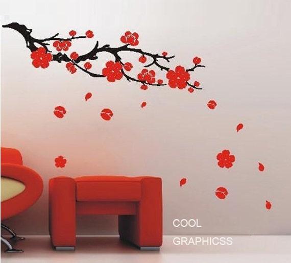 Plum blossom Branch - 63 inches  -Vinyl Wall Decal Sticker Art