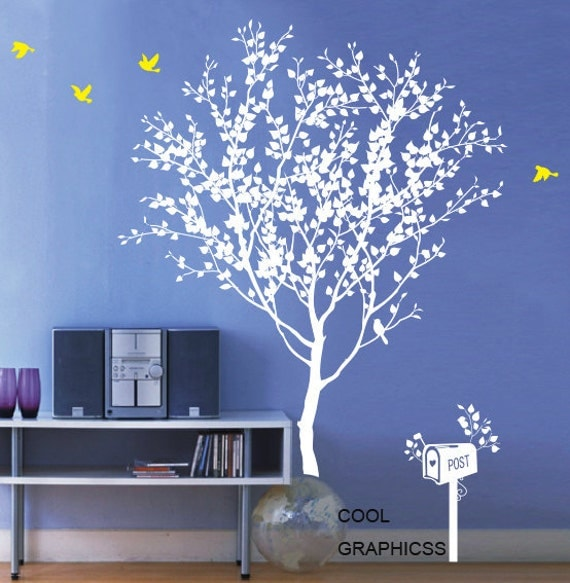 Love Tree  - Style 2 -Vinyl Wall Decal Sticker Art, Mural,Wall Hanging