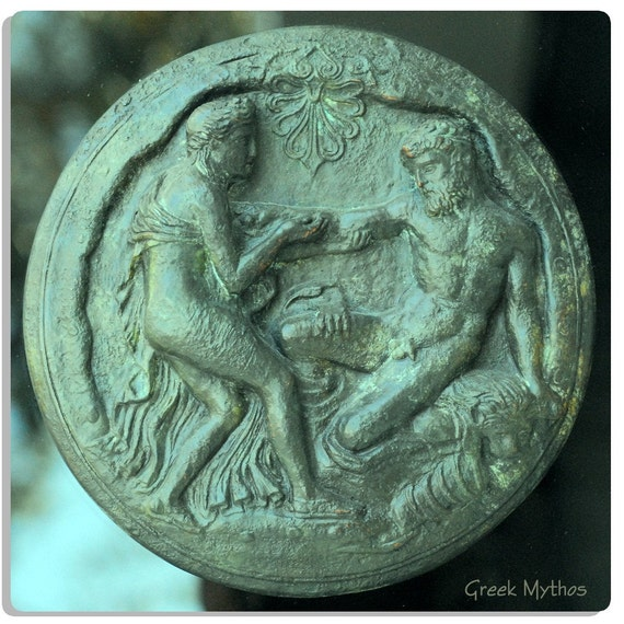 Representation of Hercules and a Nymph in Copper
