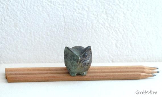 Miniature GREEK Solid Bronze OWL