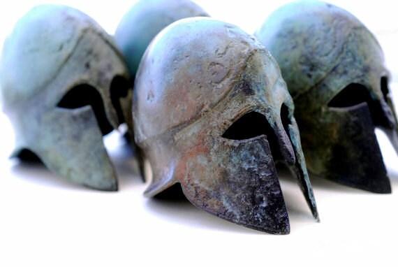 Greek Bronze Helmet, Ancient War Helmet, Bronze Metal Sculpture, Collectible Timeless Art Museum Quality Replica Art Sculpture, Historic Art