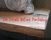 ANNIVERSARY SALE - Rustic Mud Room Wood Bench - Industrial Furniture - SALE