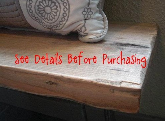 ANNIVERSARY SALE - Rustic Mud Room Wood Bench - Industrial Furniture - SALE
