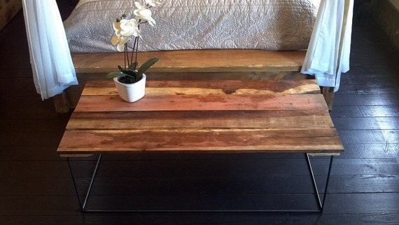 RESERVED for Anthony Francavilla - 50% OFF SALE - Barn Wood Coffee Table - Industrial Rustic Wood with Vintage Steel Hairpin Legs