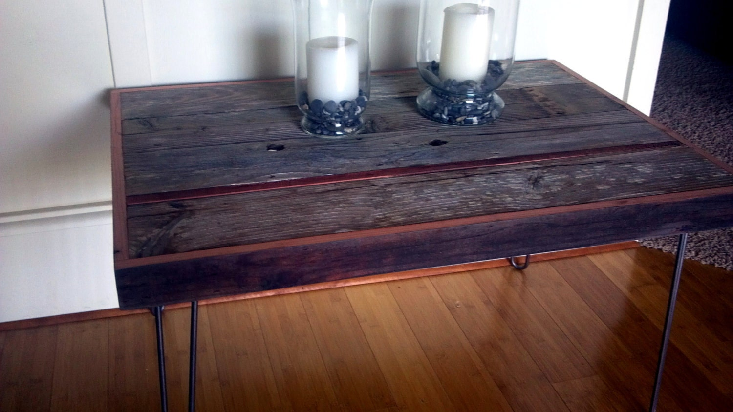 Items Similar To Barn Wood Side Table Coffee Table