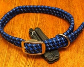 Large Dog Collar Paracord 550 cord CUSTOM COLOR and SIZES