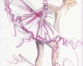 Ballerina Untied In Pink