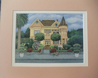 """The Gingerbread Mansion 5""""x7"""" Fine Art Print Matted"""