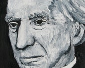 Bertrand Russell 8X10 Original Oil Painting - 100% proceeds for charity