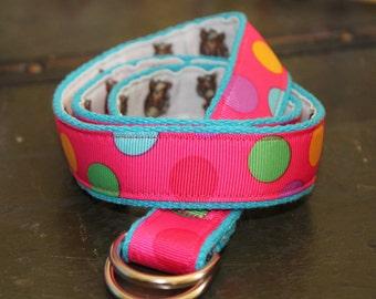 Horse Belt Reversible to Polka Dots Toddler Belt