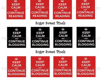 INSTANT DOWNLOAD Red &  Black Keep Calm Phrases for Scrabble tiles 4x6 image Sheet