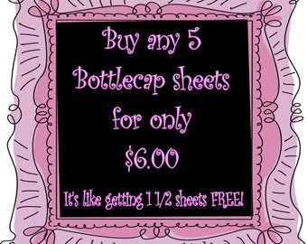 SALE Buy Any  5 Image Sheets  for 6 dollars